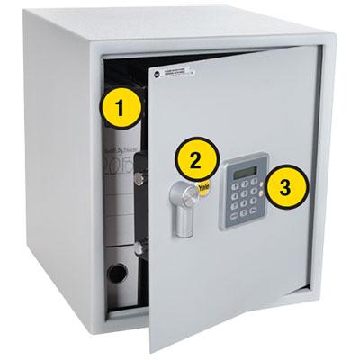 Digital Safes Yale Alarmed Security Large Safe